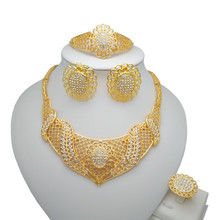 Bridal Fashion Dubai Gold Jewelry Sets Nigerian Woman Wedding African Beads Jewelry Set Wholesale design все цены