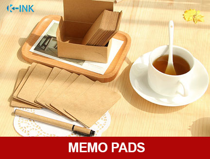 100pcs / set Kraft paper blank daily memo , writing memo pad set , writing kraft paper notepads as notebook for leaving messages