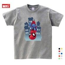 Best Sellers Boys Spiderman Ironman Captain America T Shirt Summer Short Sleeve Superhero Tee Kids Cotton shirt 3T-9T Size