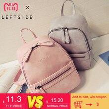 6819d48b67 Women Backpack New Fashion Casual PU Leather Female feminine backpack for  teenage girls school bag solid mini Small backpack