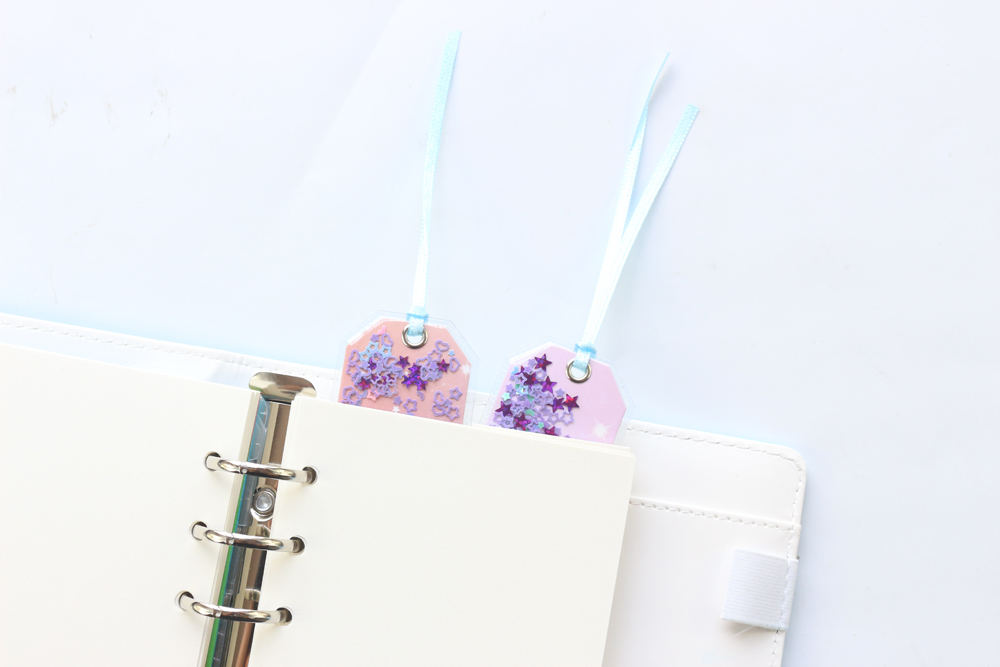 Cute Kawaii Glitter Sequins Stars Bookmarks