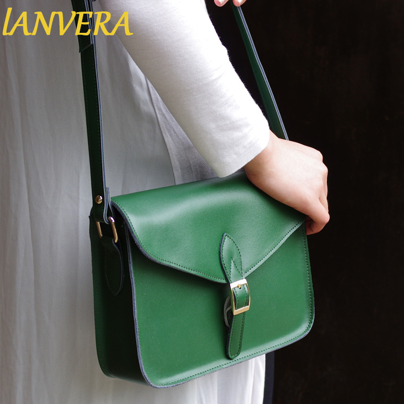 ФОТО New Arrival Vintage Style Split Leather Women Shoulder Bag Simple Design Fashion Flap Messenger Bag Lady Elegant Crossbody Bag