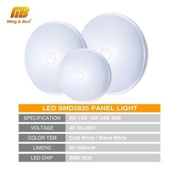Luz de techo LED 48W 36W 24W 18W 13W 9W 6W Lámpara de panel de montaje en superficie con luz descendente 85-265V Lámpara UFO moderna para iluminación de decoración del hogar 1