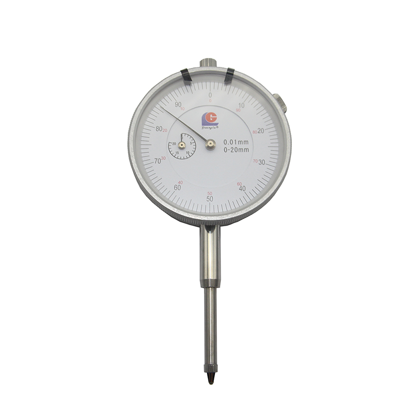 1PC Dial Indicator 0-20mm 0.01mm Accuracy Measurement Round Dial Indicator Precision Tool Test Gauge guanglu dial indicator 0 0 8mm 0 01mm dial test indicator dial test gauge measurement instrument measure tools