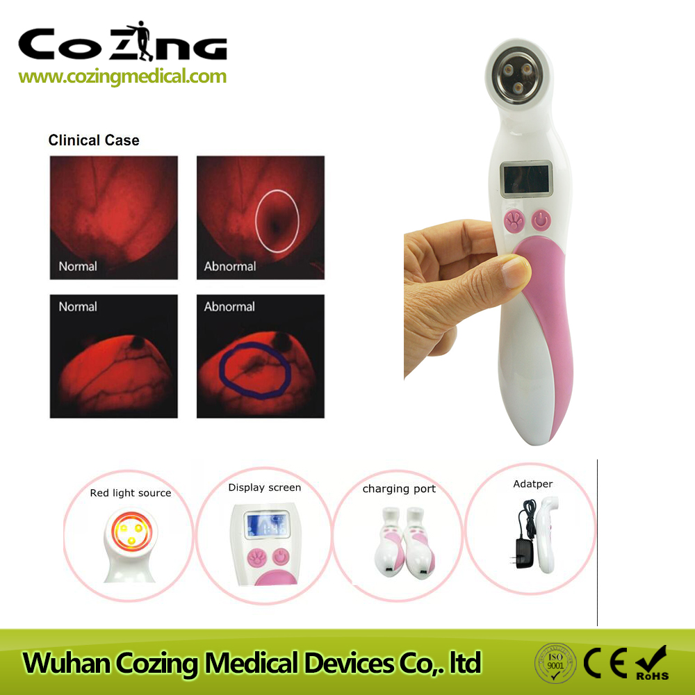 Health products breast cancer check detector hospital red light exam breast shadow mammary gland inspection apparatus for sale american cancer society breast cancer certificationed screening device women 654nm red light self check at home for sale