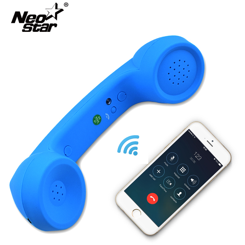 Wireless Retro Telephone Handset and Wire Radiation-proof Handset Receivers Headphones for a mobile phone with comfortable call 2018 new retro telephone 3 5mm comfort mini mic speaker telephone handset radiation proof phone call receiver for iphone samsung