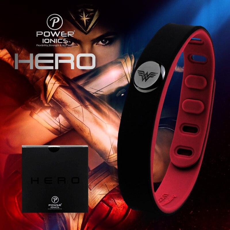 Герой Wonderwoman Мощность ionics 3000 ионов идея группы Спорт Титан браслет баланс человека Средства ухода за кожей