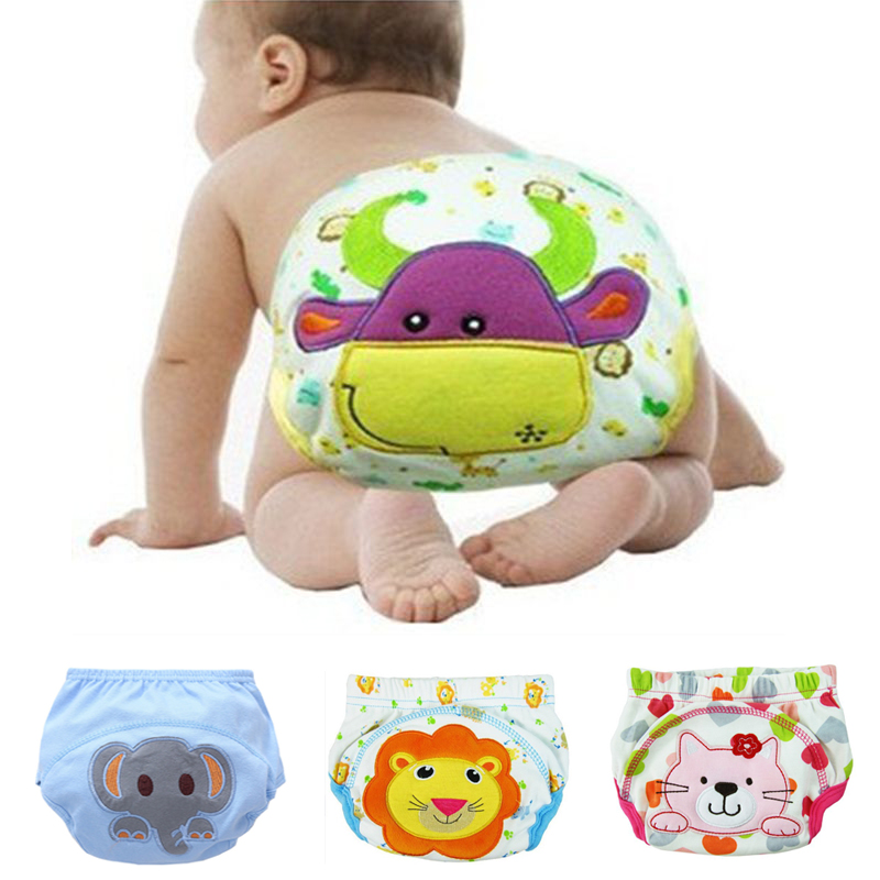 Cotton Baby Reusable Diapers Washable Cloth Diaper Cover Children Baby Nappies Baby Swim Nappy Training Pants 3 Size