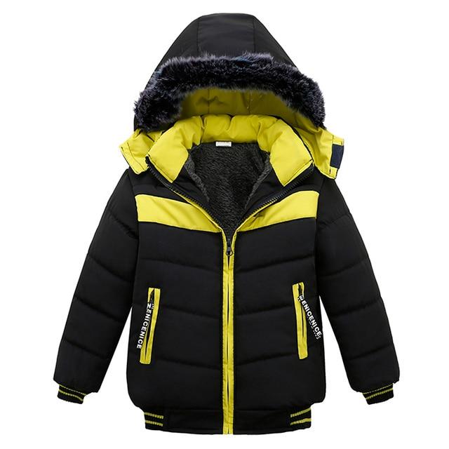 05faa65fe8b2 Baby Boys Jacket 2018 Autumn Winter Jacket For Boys Winter Coat Kids ...