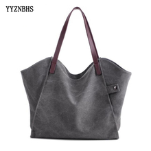 Brand Women Canvas Bag Large Capacity Shoulder Ladies Handbags Casual Tote Bolsa Feminina Sac A Main Femme