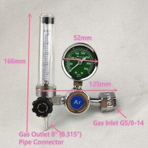 Image 2 - Argon regulador 0 25 mpa argon co2 g5 hélio nitrogênio g5/8 inalação gás de soldagem regulador de fluxo de pressão
