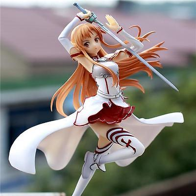 22cm(H) Sword Art Online SAO Asuna Painted PVC Figure Anime Model Toy New Toy Collectibles Model Doll 460