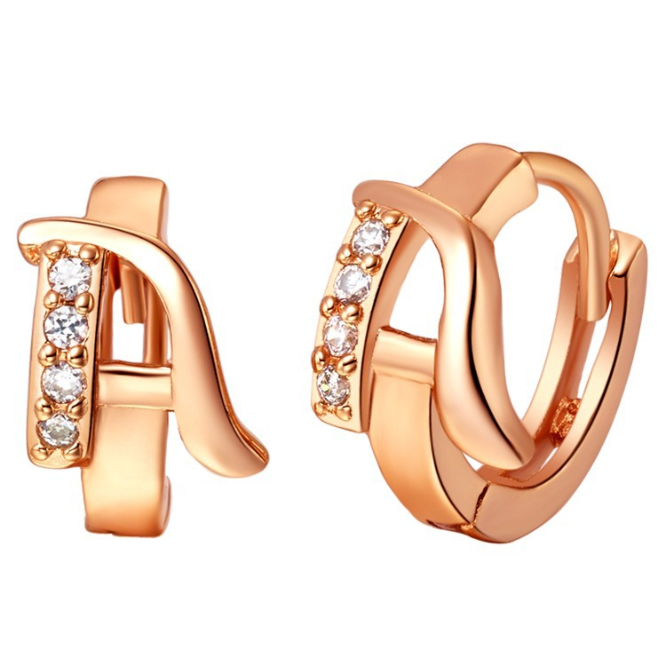 Customized A B C D E F G H I J K L M N O P Q R S T U V W X Y Z Drop Earrings 18 Colou Gold Crystal Alphabet Women Charms Earring