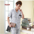 New Men's Pajamas Summer Bamboo Fiber Pyjamas Men Short Sleeve Trousers Sleep Men Lounge Pajama Sets Plus Size 4XL 5XL