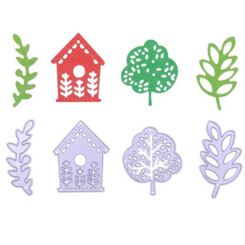 YLCD1105 Tree House Metal Cutting Dies For Scrapbooking Stencils DIY Album Cards Decoration Embossing Folder Craft Die Cuts New