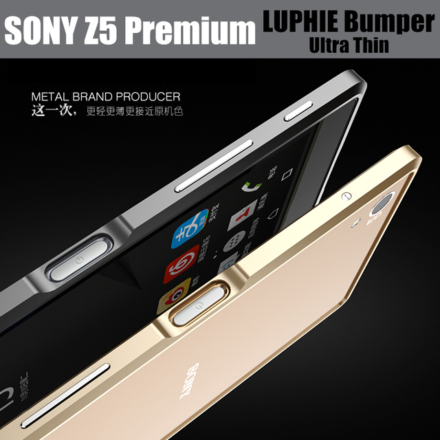 new arrival 0907e f4261 US $9.99 |Z5 premium bumper case original LUPHIE ultra thin aircraft  aluminum metal frame for sony Xperia z5 premium 5.5