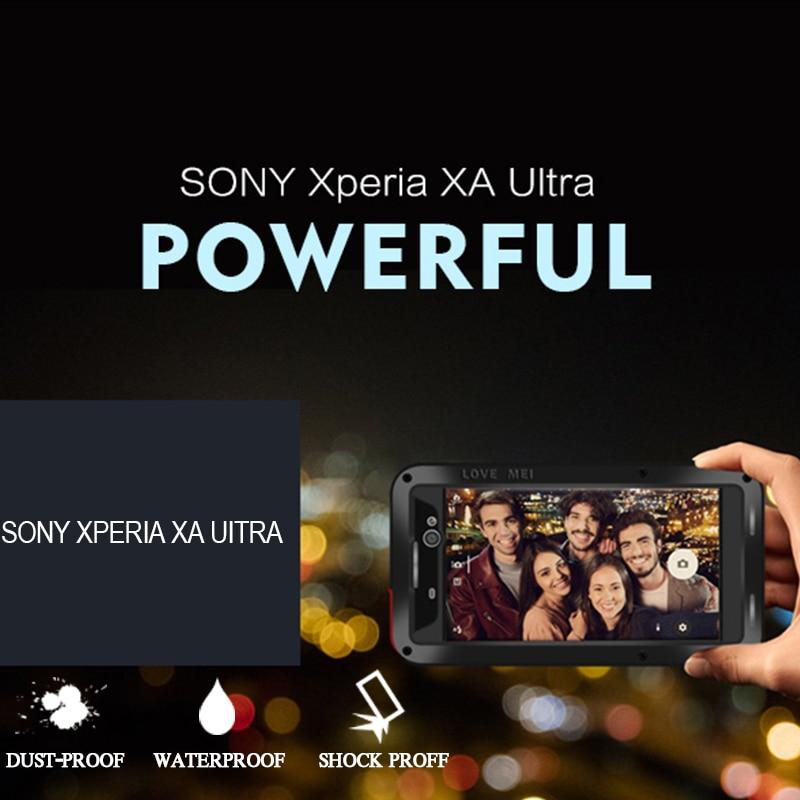 imágenes para Para Sony Xperia XA Ultra Caso Armor Cubierta Del Metal de Aluminio para Caja A Prueba de agua A Prueba de Golpes Para Sony Xperia XA Ultra XA Ultra Casos