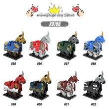 Mito Unicórnio Brinquedos Cavaleiros LegoINGlys cavalo preto Blocos de Construção de brinquedos DIY brinquedos Compatíveis Com Armas de Ação Brinquedos para as crianças