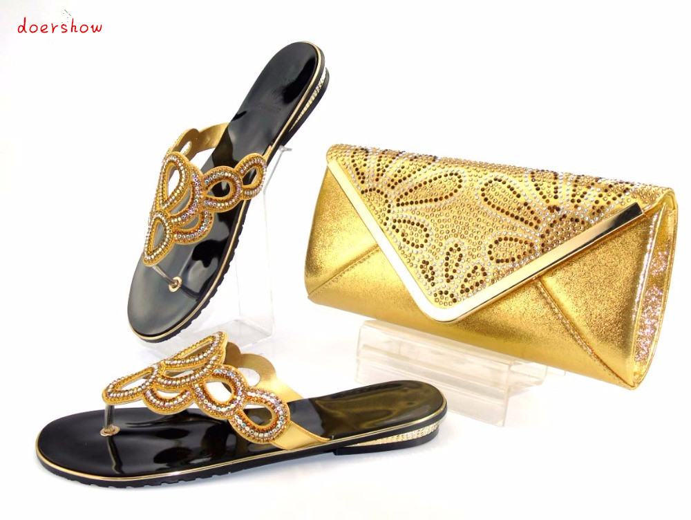 doershow Italy Design Italian Matching Shoe and Bag Set African Wedding Shoe and Bag Sets Women Shoe and Bag To Match AS1-11 african wedding shoes and bag sets women pumps decorated with diamonds italian matching shoe and bag mm1014