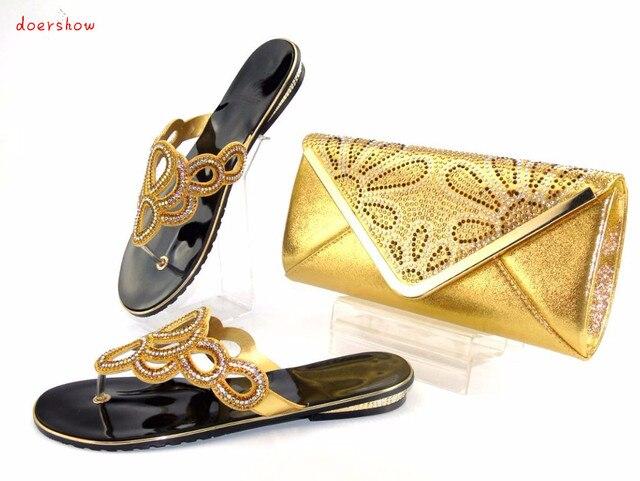 Doershow Italy Design Italian Matching Shoe And Bag Set African Wedding Sets Women