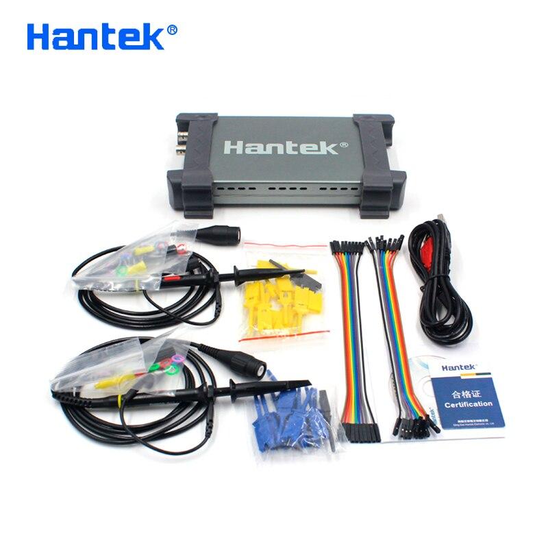 Hantek oficial 6022bl pc usb osciloscópio 2 canais digitais 20 mhz largura de banda 48msa/s taxa de amostra 16 canais lógica analisador