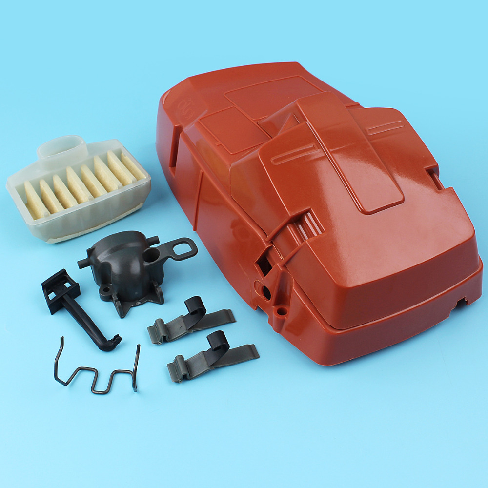 Top Engine Cylinder Air Filter Cover Holder For Husqvarna 362 365 371 372 Chainsaw Intake Manifold Elbow Choke Rod