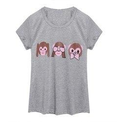 Summer style emoji font b smiley b font face t shirt women short sleeve emoji monkeys.jpg 250x250