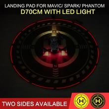 Opvouwbare Landing Pad Helihaven Landing Veld D70cm met Verlichting voor DJI MAVIC AIR/MAVIC PRO/SPARK/PHANTOM 3 4