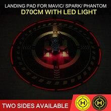 Pieghevole Atterraggio Atterraggio Campo Pad Helipad D70cm con Illuminazione per DJI MAVIC ARIA/MAVIC PRO/SPARK/PHANTOM 3 4