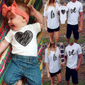 Fashion Family Match Clothes Casual Love Woman Men Short Sleeve T-shirt Top Newborn Baby Romper Bodysuit Family Matching Clohtes