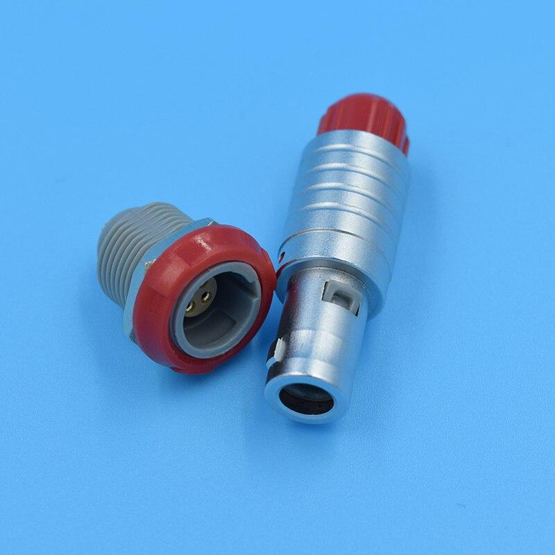 LEMO 4 pin connector 4-pin plug, 4-pin socket, metal, medical probes dedicated plug and socket,Single positioning pins