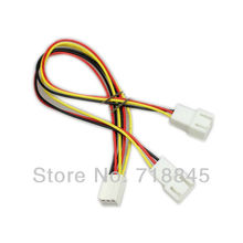 100pcs Lot 12V 3 Pin PC Fan Power Y Cable Splitter Extension Wire