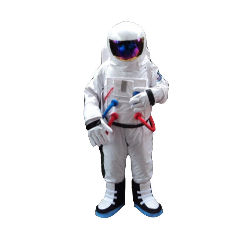 Hot Sale ! High Quality Space suit mascot costume Astronaut mascot costume with Backpack with LOGO glove,shoes 1pcs high quality peach pear orange tomato character eva with plush mascot costume in box via ems 4 kinds for select