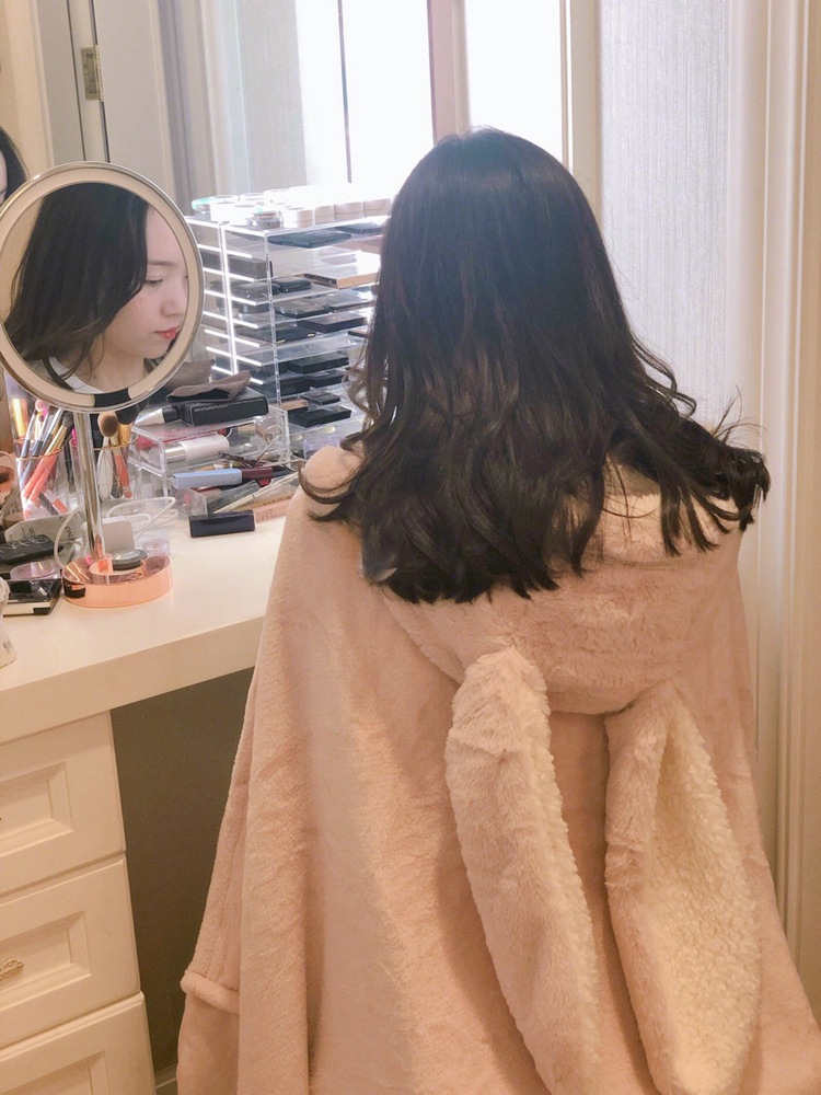 Cute Pink Comfy Blanket Sweatshirt Winter Warm Adults and Children Rabbit Ear Hooded Fleece Blanket Sleepwear Huge Bed Blankets 74