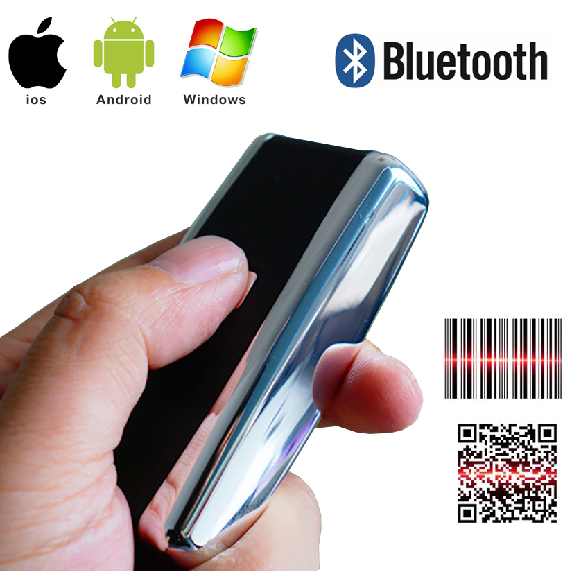 Portable Pocket Wireless 2D Scanner QR Code Reader Bluetooth 2D Barcode Scanner For Android IOS Scanner Barcod Handheld(China)