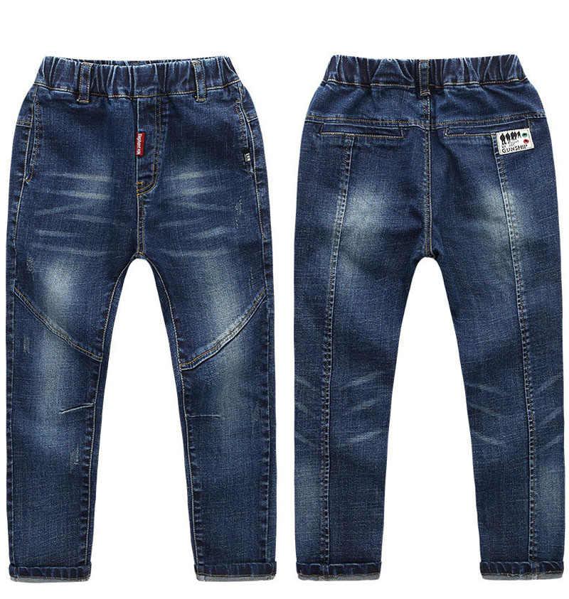 IENENS 5-13Y çocuk Boys giyim Skinny Jeans klasik pantolon çocuk Denim giyim uzun dipleri bebek erkek günlük pantolon