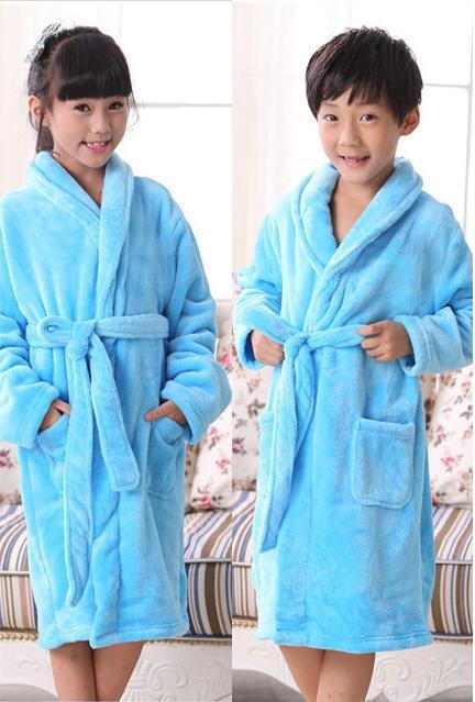 Mianlaixiang 2018 дети милые девушки халат зима мальчик robe детское платье Детская одежда пижамы
