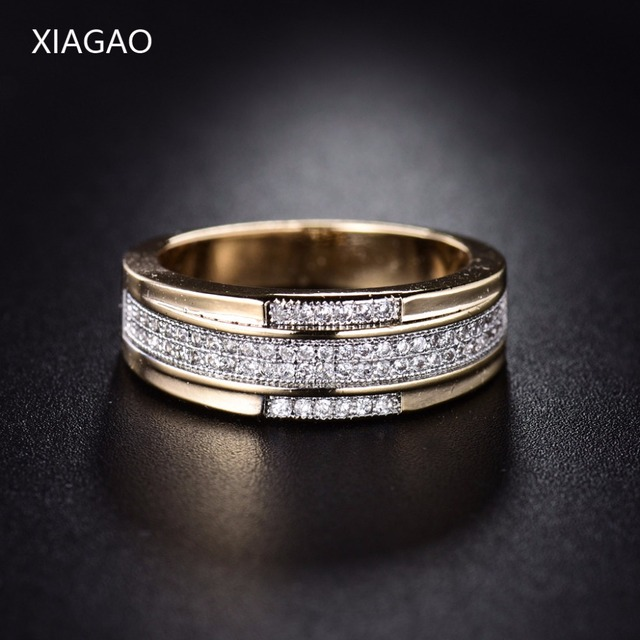 XIAGAO Simple New Design Fashion Finger Rings For Women Gold-color Princess-cut
