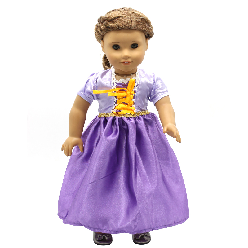 Doll Accessories American Girl Dolls Clothes 14 Colors Princess Skirt Dress Cosplay for 16- 18 inch Dolls Girl Gift X-47 my generation doll clothes multicolor princess dress doll clothes for 18 inch dolls american girl doll accessories 15colors d 14