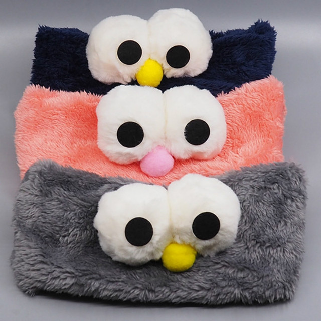 Cute Cartoon Big Eyes Headbands For Kids Hair Accessories Girls Winter Plush  Hairbands Washing Face Makeup 450e4cab6e68