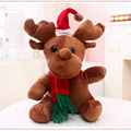 Kawaii Christmas Reindeer Plush Doll 25cm Stuffed Animal Toys for Kids Gift Peluche jouet for Christmas Decoration