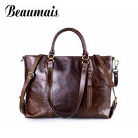 ASYION 2016 Hot Sale Genuine Leather Women Top Handle Bags Women Leather Handbags Large Capacity Crossbody
