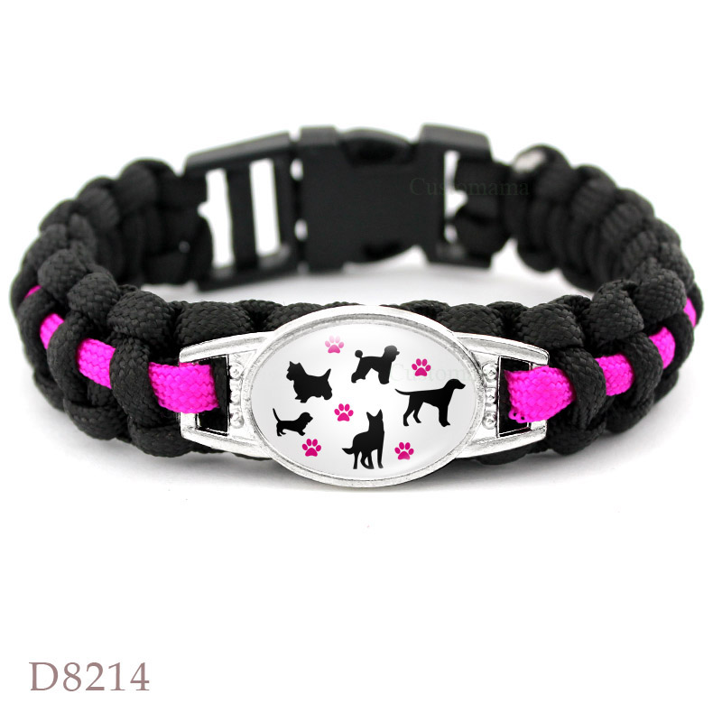 Dog mom paracord bracelets 3