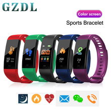 цена на GZDL Bluetooth Smart Bracelet Heart Rate Blood Pressure Monitor Fitness Tracker Smartband WT8331