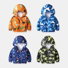 80-140cm Cute Dinosaur Spring Children Coat Autumn Kids Jack