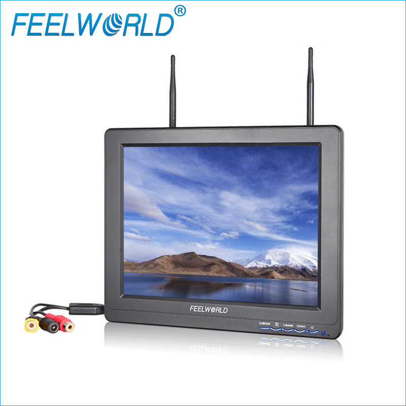 FPV121DT 12 Inch FPV Monitor with Dual 5.8G 32CH Diversity Receiver Feelworld 12.1inch LCD Monitors for Aerial Photography