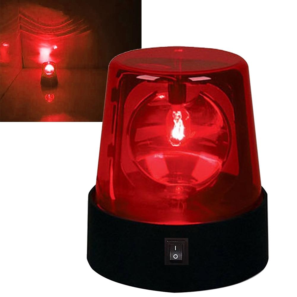 3inch Strobe Light DJ Beacon Battery Powered Led Night Flashing Lamp Stage Effect Beam Desktop 360 Degree Rotating Party Mini