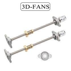1 zestaw drukarki 3D i CNC T8 śruba pociągowa 300/400/500mm 8mm + nakrętka anty-luz + wspornik łożyska KFL08 + elastyczne sprzęgło