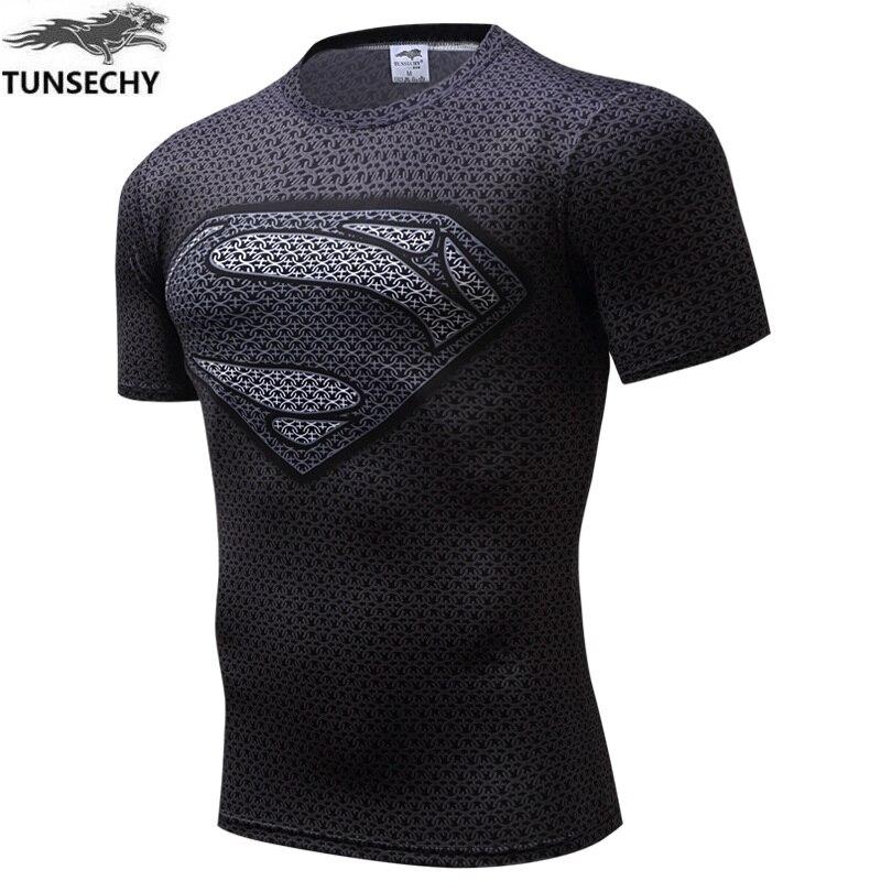 NEUE TUNSECHY spiderman, batman superman 2016 krieg ist engen T-shirt kompression lycra engen t-shirts t-shirts herren sportswear