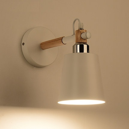 Modern Fashion Modern Wall Sconces Iron Wooden LED Wall Light ...